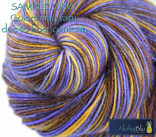 "Dyed to Order: ""SEA DRAGONS"" colorway - Sock yarn - Hand dyed - Variegated yarn - Sea creature inspired yarn"