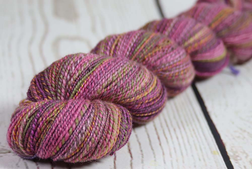 SEPTEMBER IRIS - Hand dyed, hand spun lace yarn
