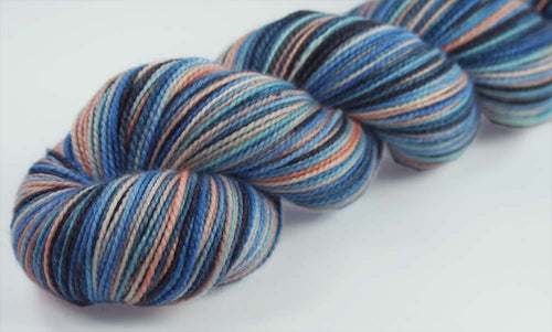 SITKA AT DUSK - SW Merino / Nylon - Hand dyed variegated sock yarn - tight twist