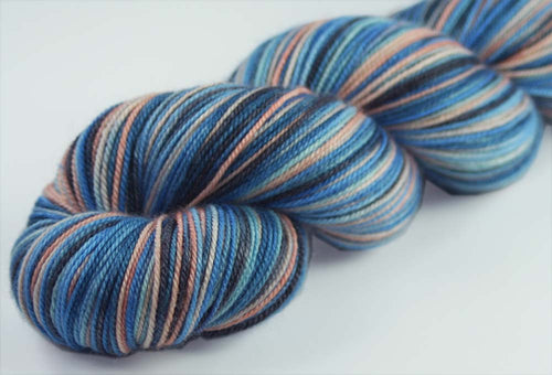 SITKA AT DUSK : SW Merino-Silk-Cashmere - Hand dyed variegated sock yarn