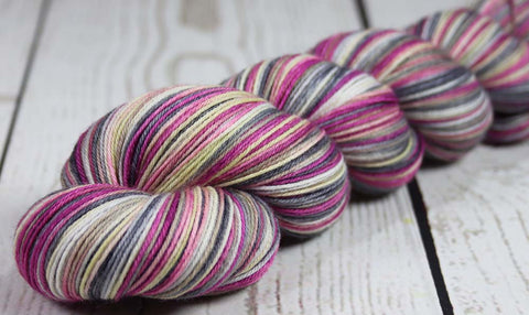 BLUEBERRY: SW Merino-Nylon - Hand dyed Sock yarn - Tonal