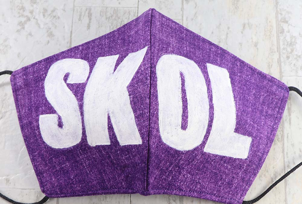 MASK: SKOL - Large | Hand printed, block printed - sports team fan mask