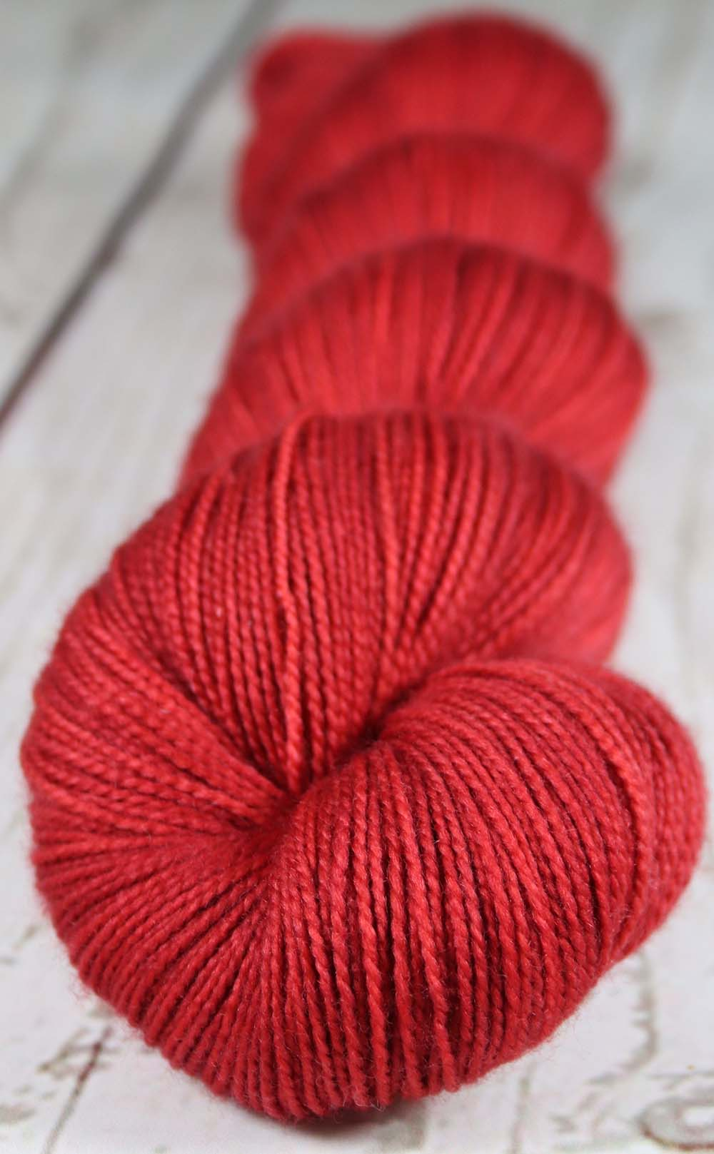 STRAWBERRIES WILD: SW Merino-Nylon Hand dyed Tonal sock yarn - Kauai base
