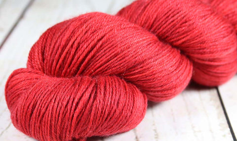 REBEL BOWIE RED: Superwash Merino-Nylon - DK Yarn - Hand dyed variegated yarn