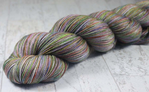 SWIRL: SW Merino Wool-Nylon Single knit sock blank - Hand dyed