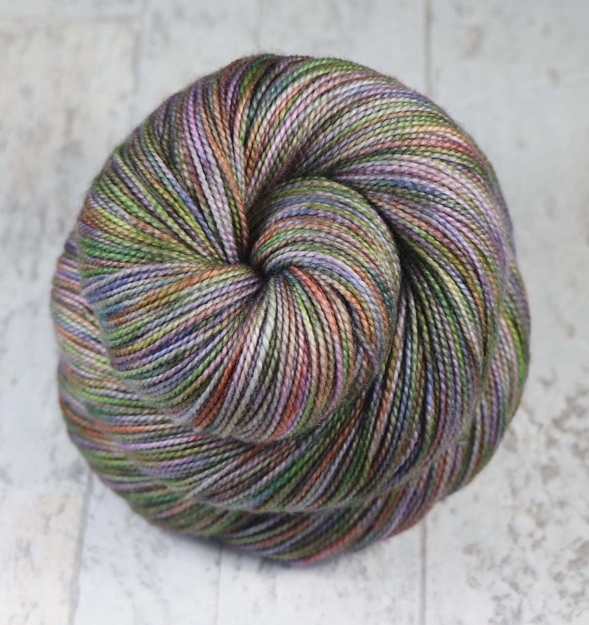 STRIPPED BARK: SW Merino-Cashmere-Nylon Hand dyed Variegated sock yarn