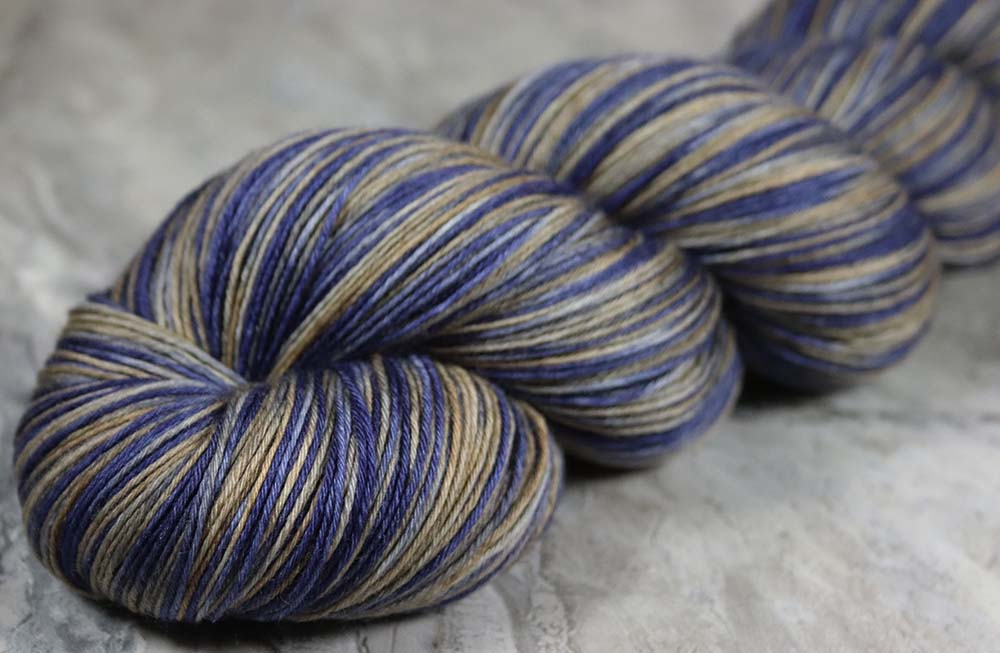SUNSET SEA ALASKA: SW Merino - Hand dyed Variegated Light Sock Weight Yarn - Shawl length