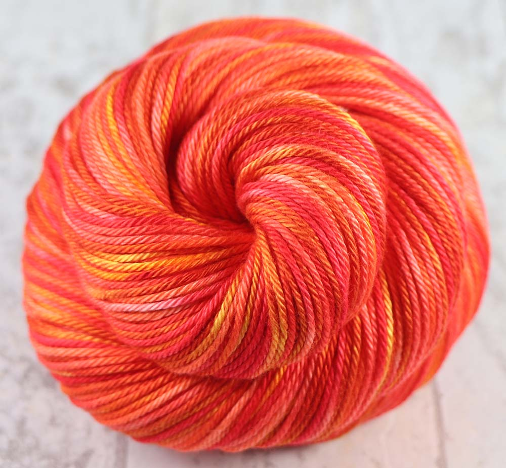 TEQUILA SUNRISE: Variegated Hand dyed Cotton - Sock Weight Yarn