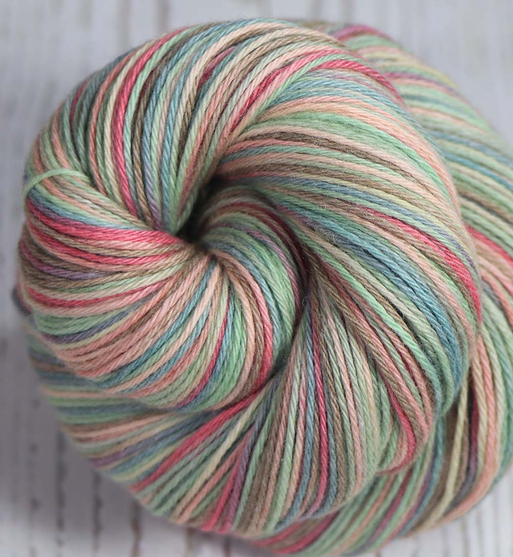 THE FOUR SEASONS: SW Merino/Cotton Sock yarn - Hand dyed Variegated yarn