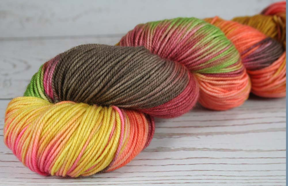 UKELELES: Superwash Merino-Nylon - Sport weight yarn - Hand dyed Variegated Hawaii inspired yarn