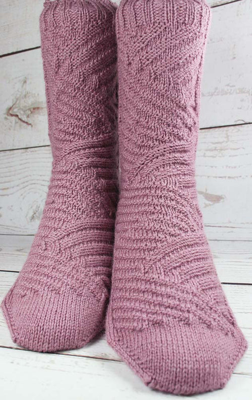 KNITTING PATTERN for Vertigo Blinds Socks - Charted Sock pattern digital download