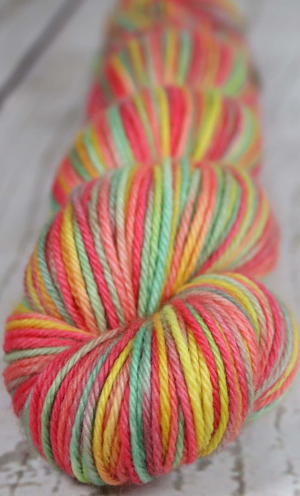 VIBRANCY AT THE PLANTATION: SW Merino - Worsted - Hand dyed Variegated Yarn - tropical Hawaii colors