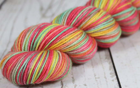 DANGER ZONE: SW Merino-Yak-Nylon Sock yarn - Hand dyed Variegated yarn