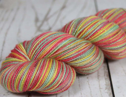 HORSE OF THE SPRING: Superwash Merino-Nylon - DK Yarn - Hand dyed variegated yarn