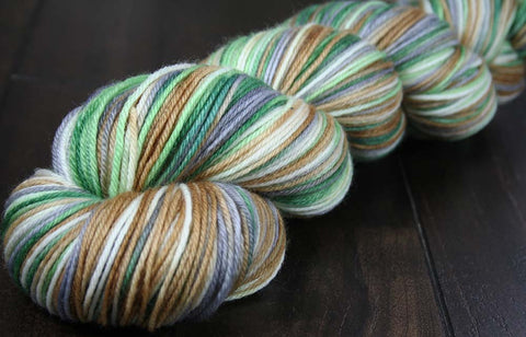 GRAND PRISMATIC HOT SPRING: SW Merino Light Sock Yarn - 822 yds - Variegated shawl length yarn