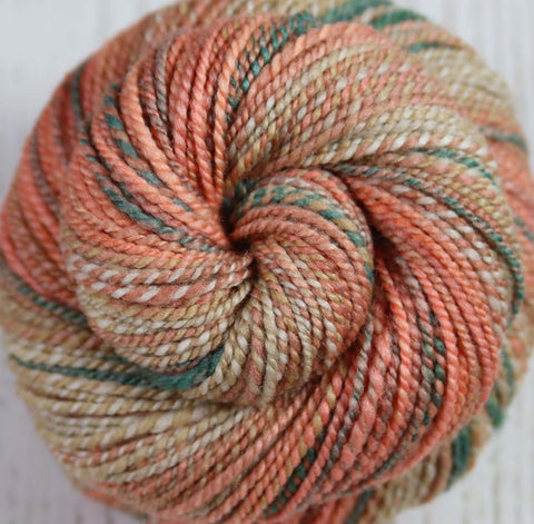 VIBRANCY AT THE PLANTATION - Hand dyed, hand spun DK yarn