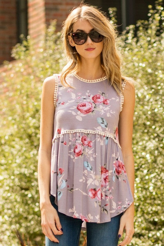 Perfection Abound Floral Tank