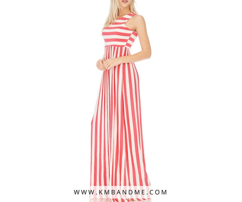 Coralate Your Stripes Dress