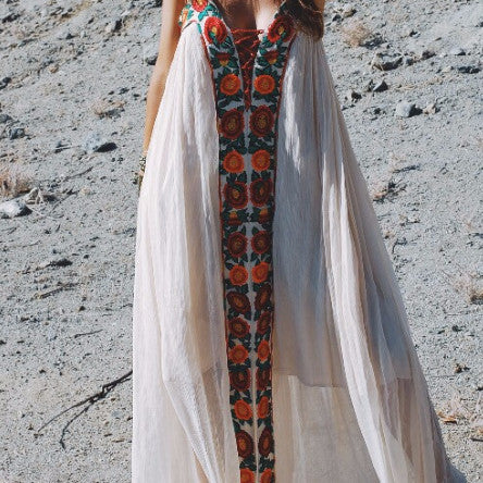 Boho Inspired Spaghetti Strap Dress