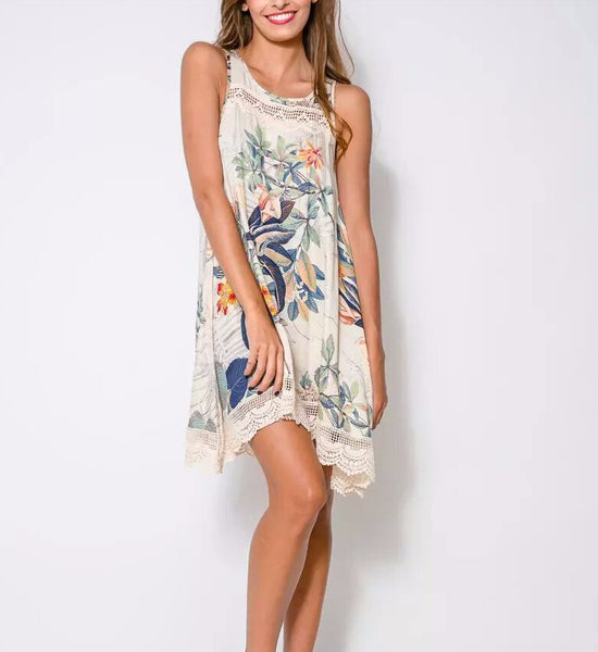 Summer Lace Floral Dress