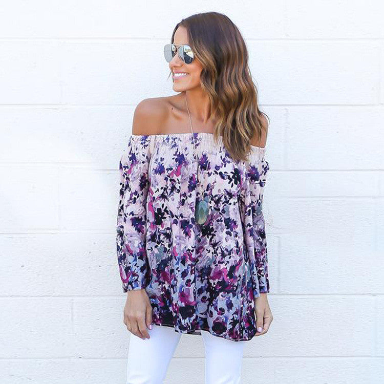 Long Sleeve Off The Shoulder Blouse