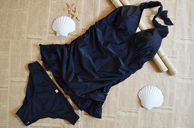 Two Piece Tankini Skirted Swimsuit