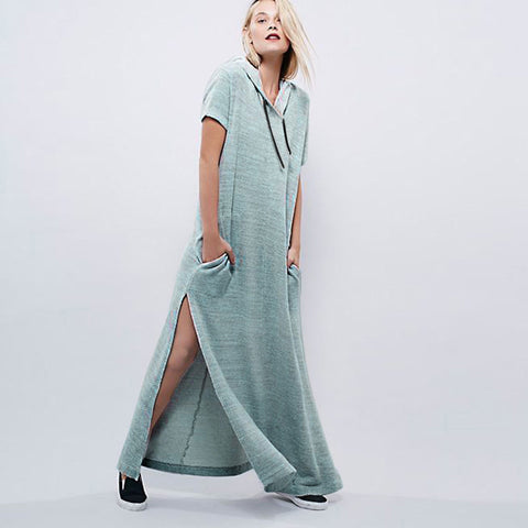 Casual Loose Hooded Knitwear Dress