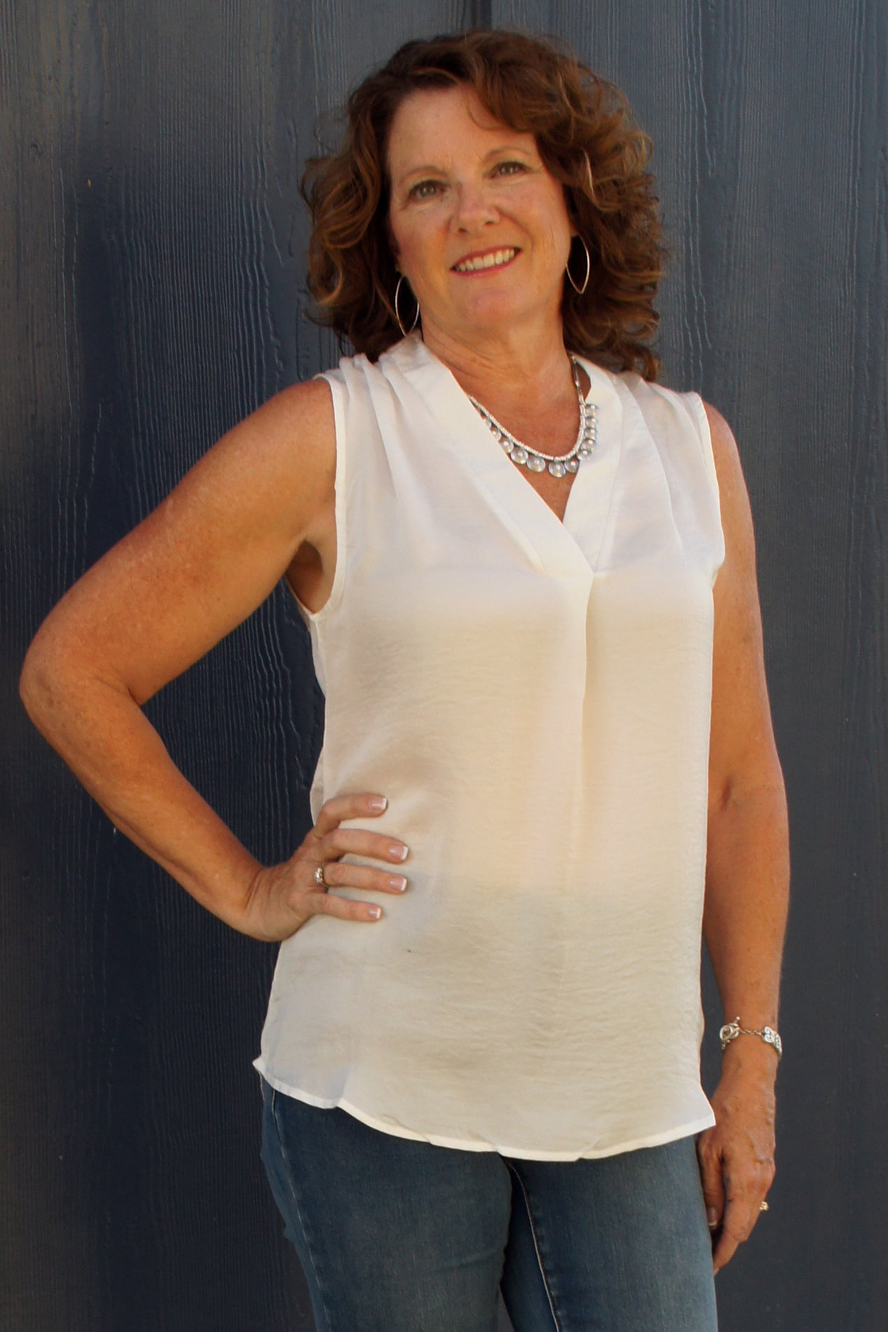 Sheer White Blouse - Grandir Fashions