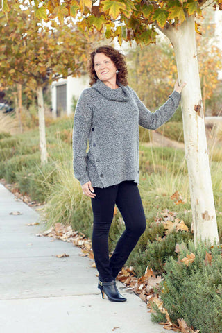 Crew Neck Cardigan Sweater