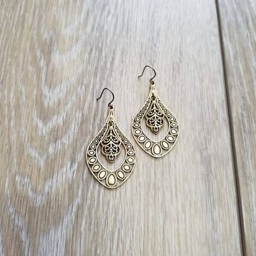 Gold Filagree Earring - Grandir Fashions