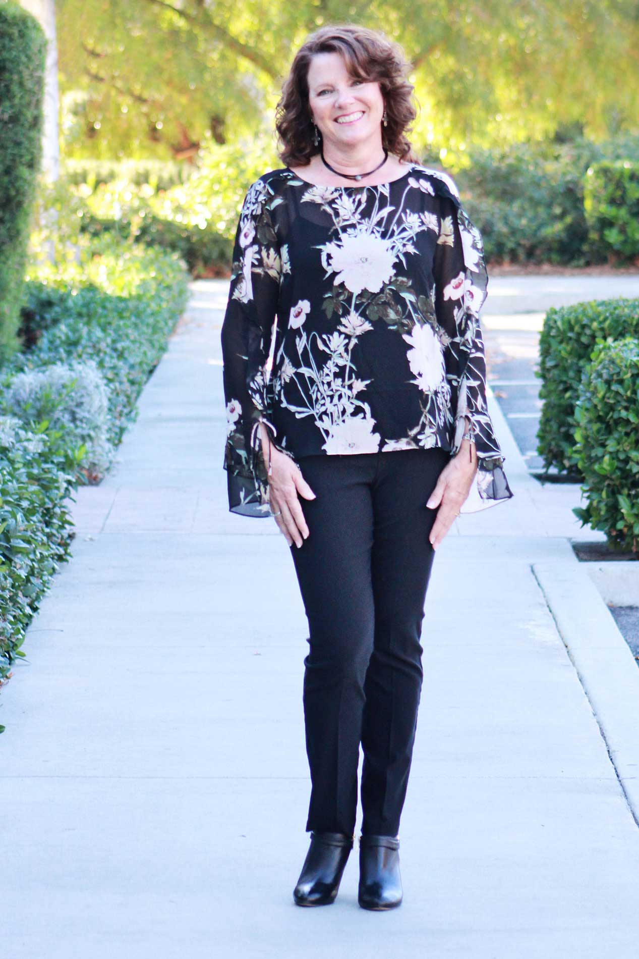 Ruffled Flower Blouse - Grandir Fashions