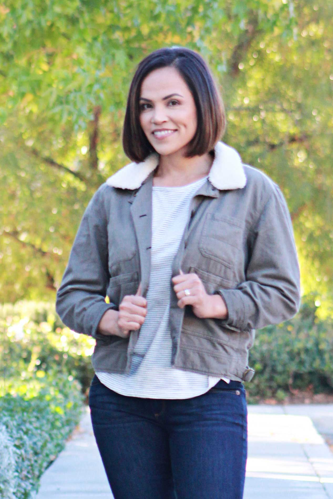 Multi Pocket Military Jacket - Grandir Fashions