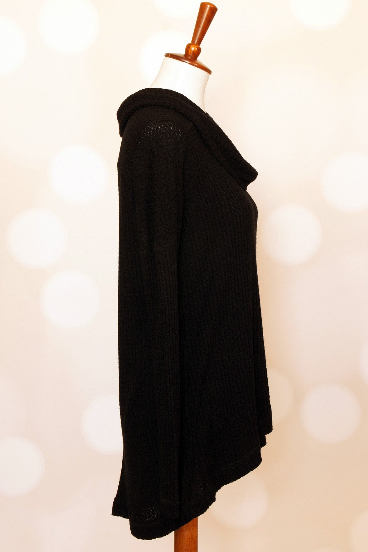 Black Cowl-neck Thermal - Grandir Fashions