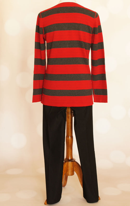 Reversible Striped Sweater by Tribal - Grandir Fashions