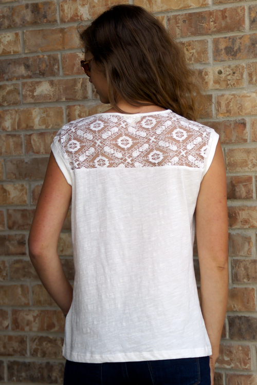 Eggshell Lace Top - Grandir Fashions