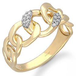 Yellow  Gold White Diamond Eternal Ring