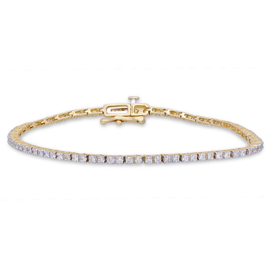 Yellow Gold White Diamond Eternal Bracelet