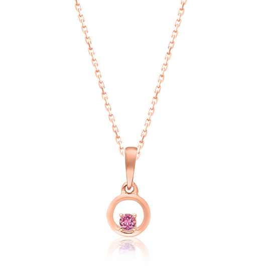 Rose Gold Pink Sapphire Heirloom Pendant