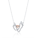Two Tone Gold Diamond Eternal Love Necklace