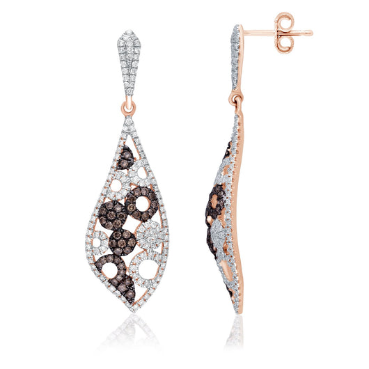 Rose Gold Coco & White Diamond Eternal Earrings