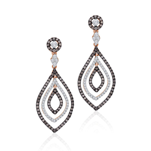 Rose Gold Coco & White Diamond Eternal Earring