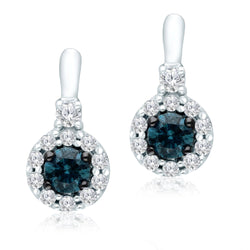 White Gold Blue & White Diamond Eternal Earrings