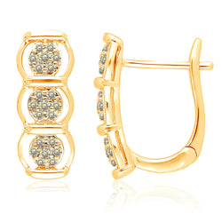 Yellow Gold Yellow Diamond Eternal Earrings