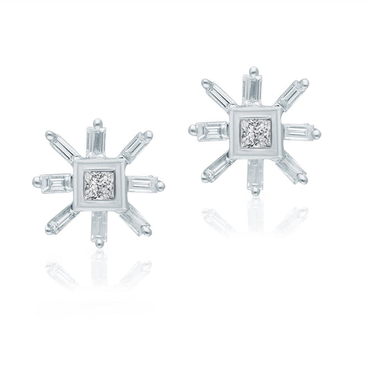 White Gold Diamond Legendary Stud Earrings
