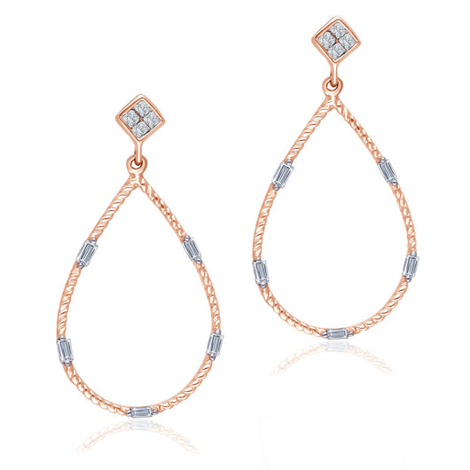 Rose Gold Diamond Legendary Earrings