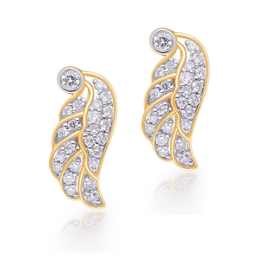 Yellow Gold Diamond Griffiness Earrings