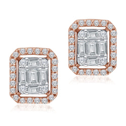 Two Tone Gold Diamond Legendary Earrings