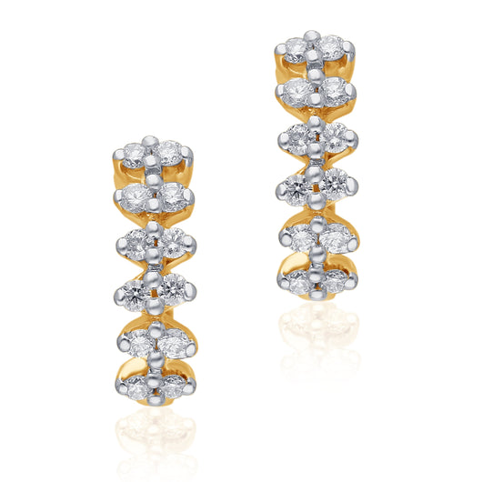 Yellow Gold Diamond Eternal Earrings