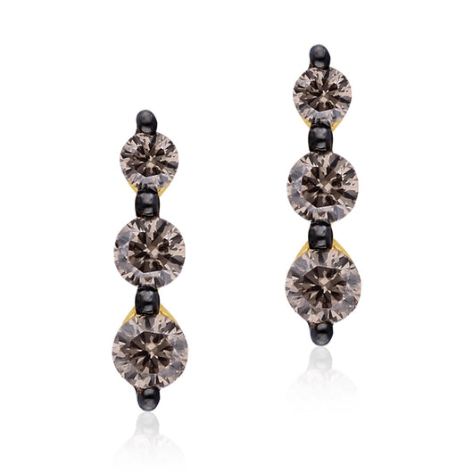 Yellow Gold Coco Diamond Eternal Stud Earrings
