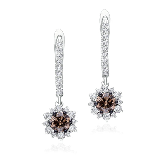 White Gold Coco & White Diamond Eternal Earrings